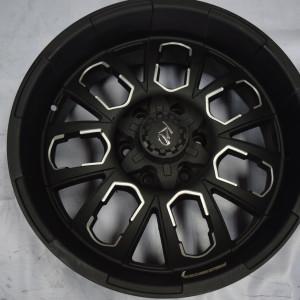 20″ Knockout KO-REV2 Black/polish trims Bnew mags (6H-PCD139)