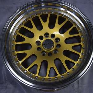 18″ WW634 Vosstroen Gold Bnew mags staggered(5H-PCD114)