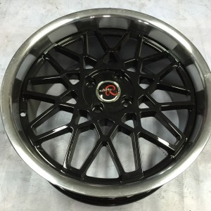 17″ Gang Racing WW639 Black Bnew Mags(4H-PCD100)