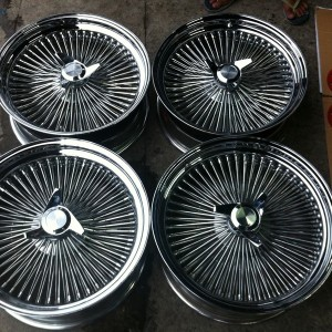 20″ Wire Wheels Used mags(5H-PCD135-139/6H-PCD139)