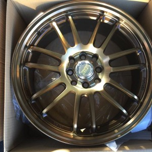 17″ RE30 Bronze Bnew Magwheels(4H-PCD100-114)