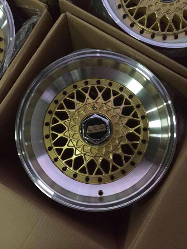 """H And H Tire >> 16""""BBS RS Gold Black rivets x9 lapad bnew mags(4H-PCD100-114)   Mindanao Tyrehaus"""