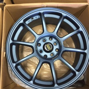17″ RNS Volkracing Matte blue bnew mags(4H-PCD100-114)