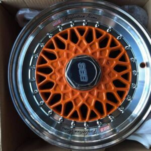 14″BBS RS Orange color bnew mags(4H-PCD100-114)