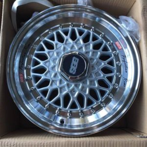 14″ BBS RS Silver Bnew Mags(4H-PCD100-114)
