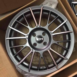 17″ KH Racing Gunmetal Bnew Mags(4H-PCD100)