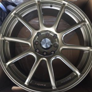 17″Advan RZ bnew Bronze mags(4H-PCD100-114)