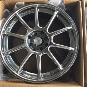 17″Advan RZ bnew Hyperblack mags(4H-PCD100-114)