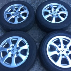 15 Civic fd 2nd design stock mags 5holes pcd 114 with dunlop tires
