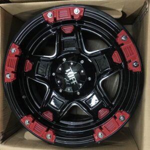 17″ Tuff T10 P5171 with red trims bnew mags(6H-PCD139)