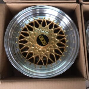 15″ BBS RS S135 Gold Bnew mags(4H-PCD100-114)
