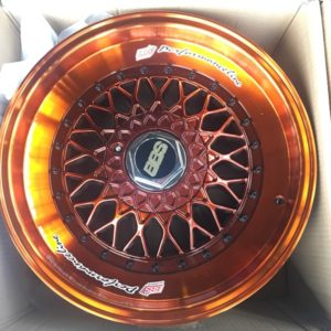 17×7.5jj BBS RS Metallic Orange JHNMESH Bnew mags(4H-PCD100-114)
