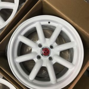 15″ AC701 white Watanabe bnew mags 4holes pcd 100