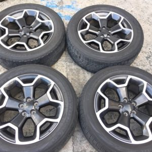 17 subaru mags used 5h pcd 100 with 225 55zR17 Yokohama
