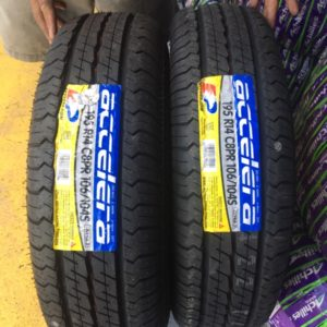 195R14 Accelera Bnew tires 8ply
