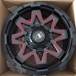 20″ Black Mamba Onslaught AZ313 Black with red trims Bnew Mags(6H-PCD139)
