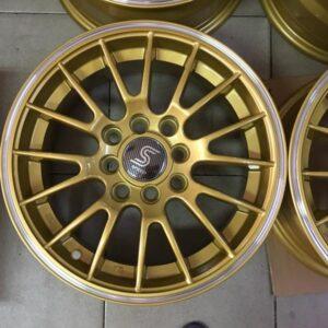 14 Nino Gold Mesh bnew magwheels 4H PCD100-114