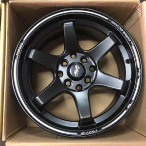 17″ Milano Black 4Holes PCD100-114 Bnew magwheels