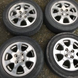 14 Vios polish mags 4h pcd 100 with 175 65r14 dunlop