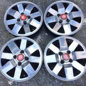 4pcs 13 Polish nissan momo centercaps magwheels used 4H pcd 100
