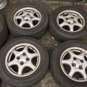 15 Lancer galant mags used 4H pcd 114 with 205.65.R15 used tires