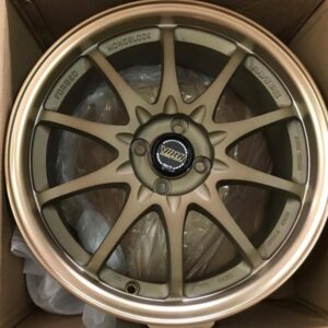 17inch bronze Rays C34 Bnew mags 4Holes pcd 100