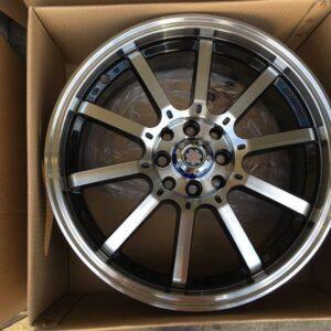 17″ Scarlet Stw 455F polish 4Holes pcd 100-114 bnew magwheels