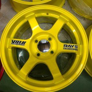 15″Te37 Stw457L Yellow 4Holes pcd 100 bnew magwheels