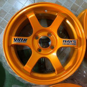 15″Te37 Stw457L Orange 4Holes pcd 100 bnew magwheels