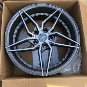 4pcs 17 Dcenti LM101R Gray magwheels 5Holes pcd 114