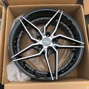 4pcs 17 Dcenti LM101 Black magwheels 5Holes pcd 114