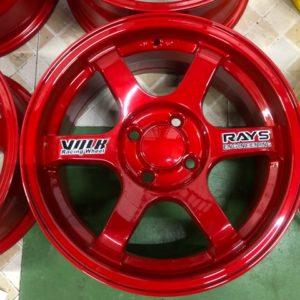 15″Te37 Stw457L Red 4Holes pcd 100 bnew magwheels