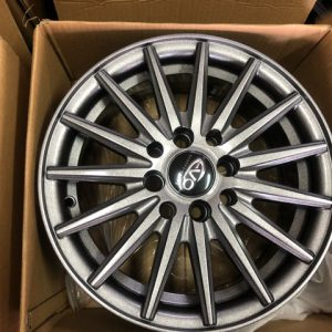 14 Evo 9651 wheels gray bnew mags 4Holes pcd 100 and 114