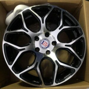 17 HRE Stw465 polish black 5holes pcd 114 magwheels