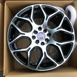17 HRE Stw465 polish black magwheels 4Holes pcd 100-114