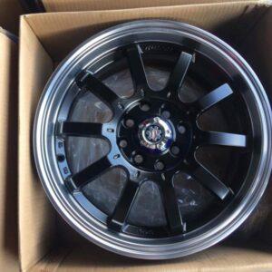 15″ Scarlet black STW455F  (4Holes -PCD100 & 114)