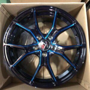 4pcs 17 Stw531 Black blue trims 5Holes pcd 114 magwheels