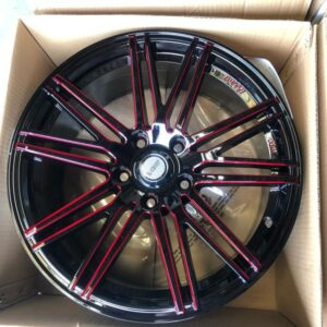 17″ Dcenti Stw-516  5Holes pcd 114 Red trims bnew magwheels