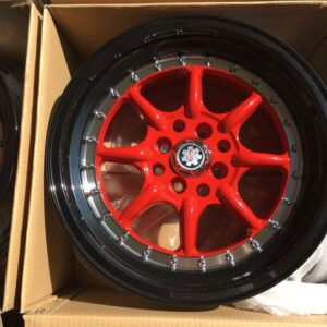 16″ Scarlet red Dy0025  Bnew banana type Mags 4H-PCD100 -114