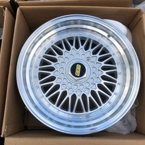 17″ BBS RS Silver STR606  magwheels 5Holes pcd 100-114
