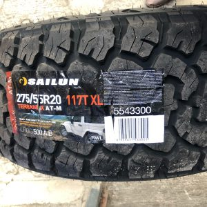 275 55 r20 Sailun AT-M pattern Bnew Tires