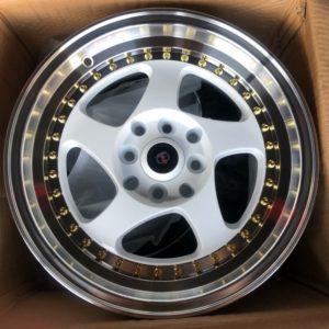 15 Gio TBM wheels white magwheels 4Holes pcd 100 n 114