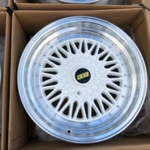 17″ BBS RS White STR606  magwheels 5Holes pcd 100-114 m
