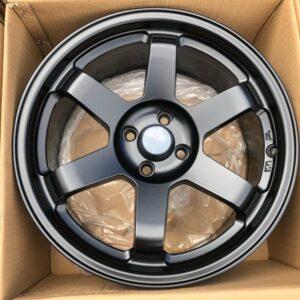 17×8 RT Te37 AV06  Black Magwheels 4Holes pcd 100