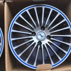 15″ Kspeed Rayos magwheels 4Holes pcd 100 Blue lip