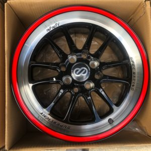 15 L885 magwheels with red lip lining 4Holes pcs 100 n 114