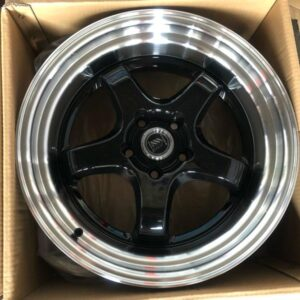 18″ Hunter wheels A1053 works design Black Polish mags 5 holes PCD 114