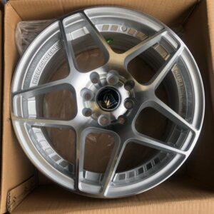 15″ A0836 Silver Polish undercut mags 4 holes PCD 100-114