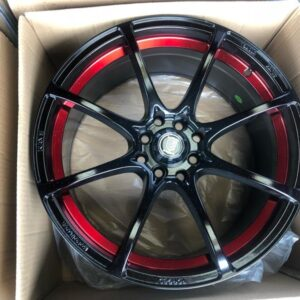 17″ A1084 Black with red mags 4 holes PCD 100-114