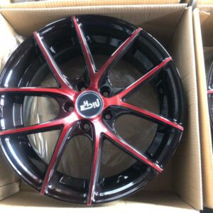 18″ A1067 Black Red tint mags 5 holes PCD 114